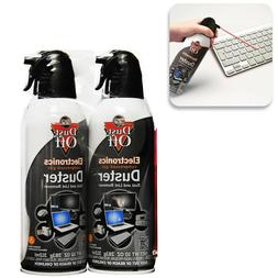 2-Pack Gas Duster Disposable Compressed Dust Off Spray Elect