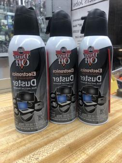 Lot Of 3 Falcon Dust Off 10oz Electronic Compressed Canned A